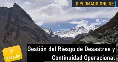 Diplomado en Gestión del Riesgo de Desastres y Continuidad Operacional – Tercera Versión